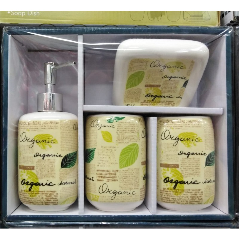 Set de baño 4 piezas Organic