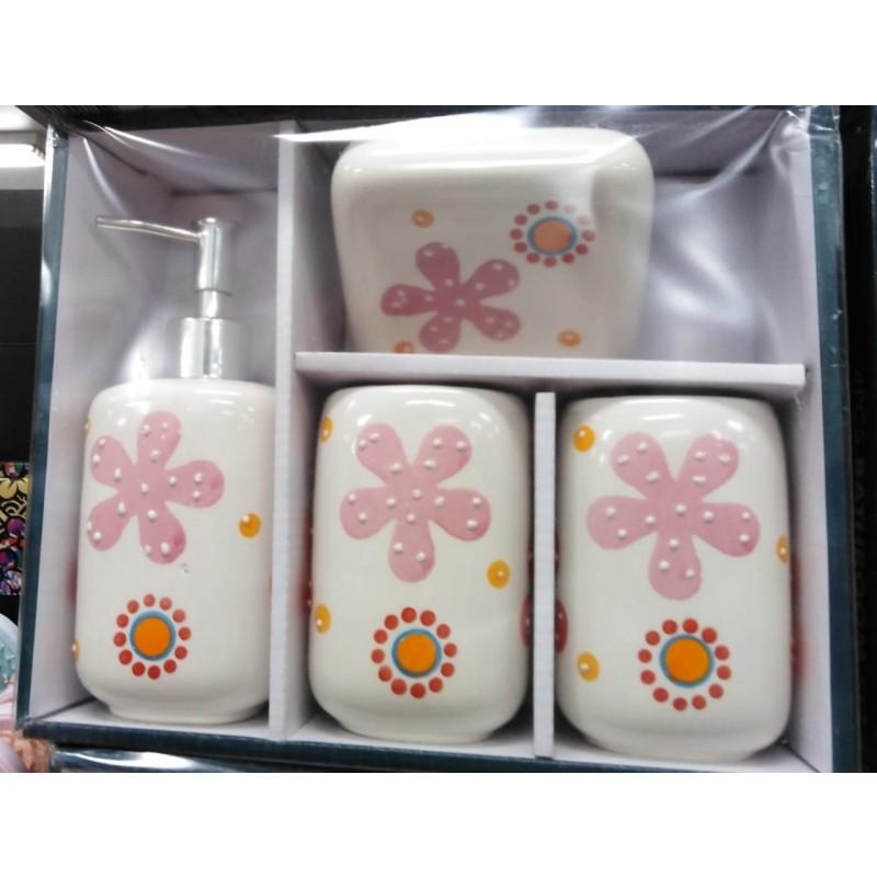 Set de baño de 4 piezas Rose