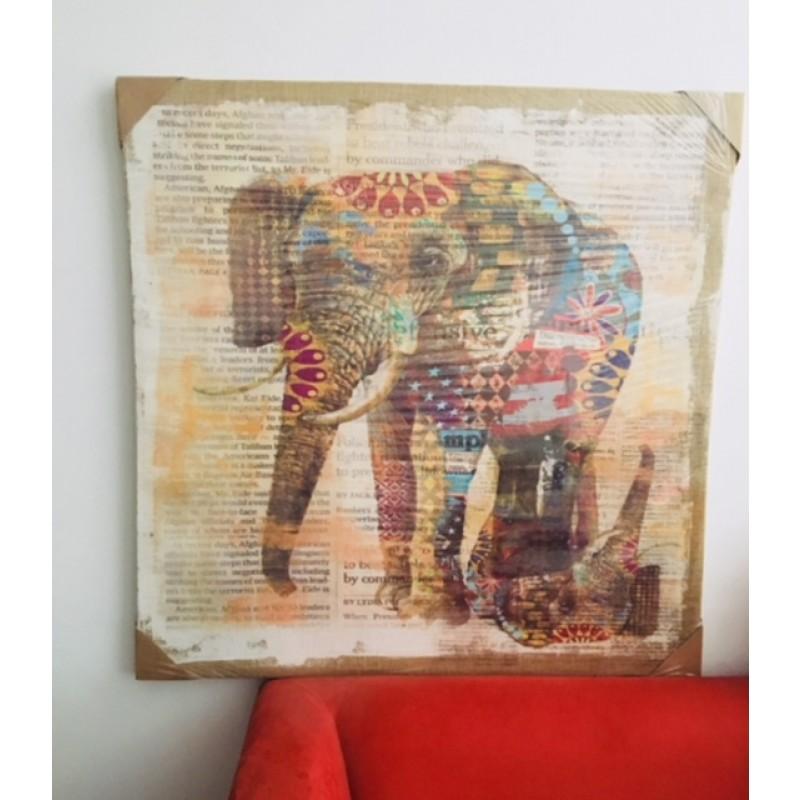 Elefantes en Arpillera