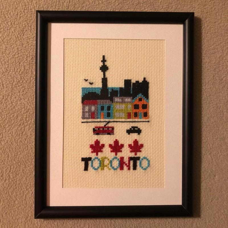 Cuadro Bordado Toronto